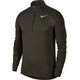 Nike Dry Element LS 1/2 Zip Running Top Men sequoia/medium olive/htr